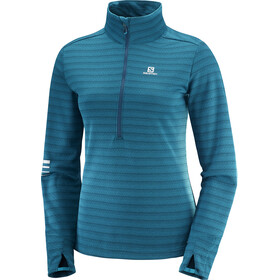 Salomon Lightning Half Zip Midlayer Women Deep Lagoon/Reflecting Pond